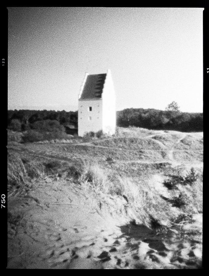 Sand church, Skagen - pinhole